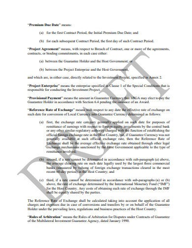 guarantee for equity investments agreement template