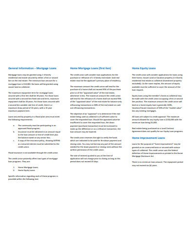 home mortgage equity loans template