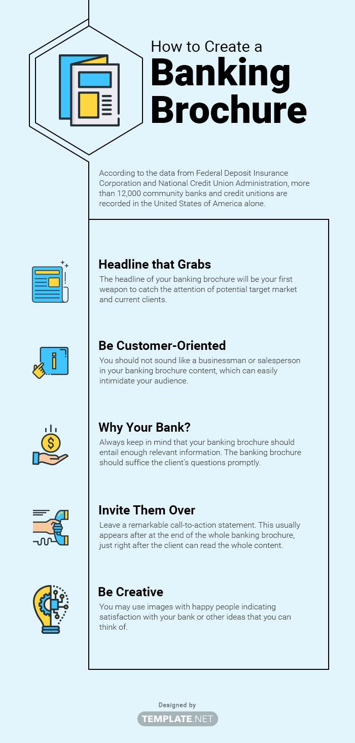 banking brochure template