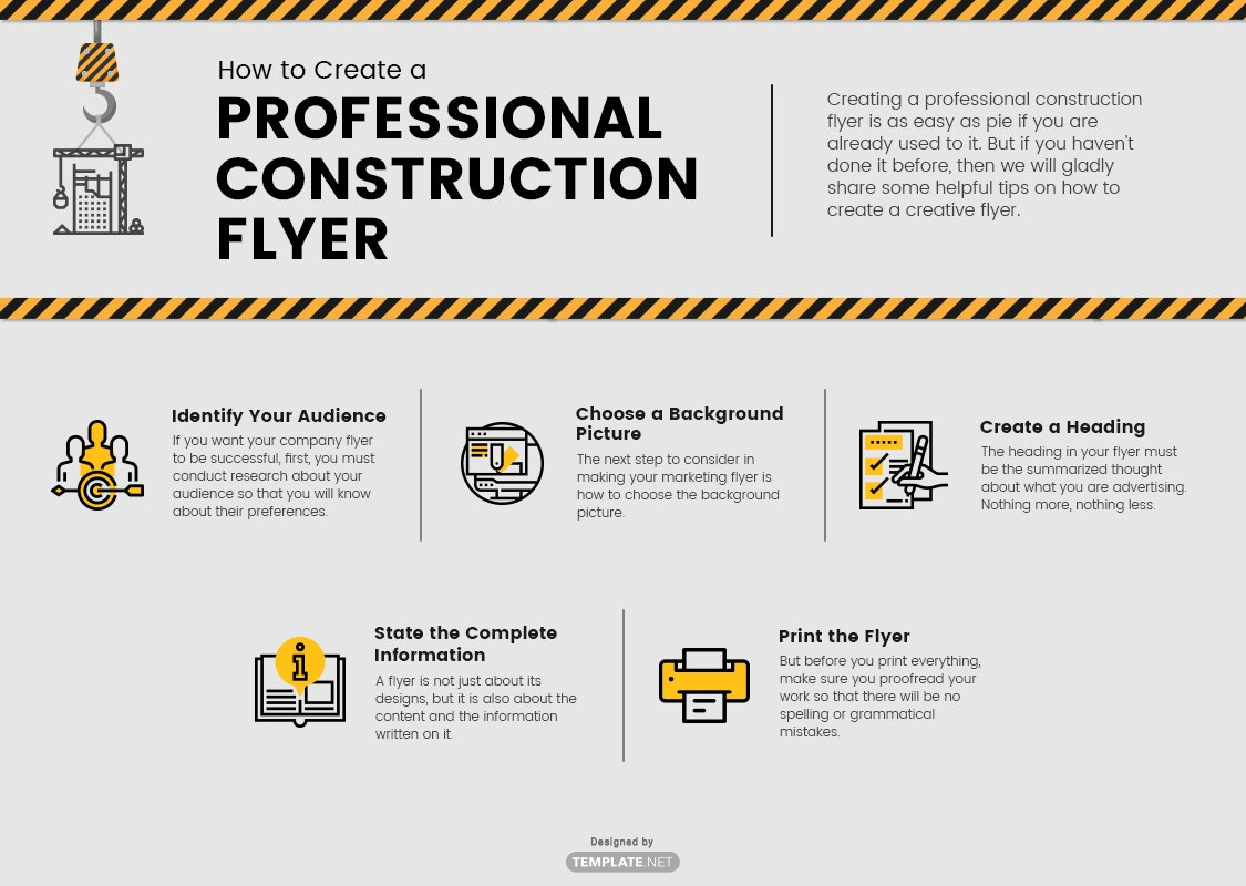 professional construction flyer template