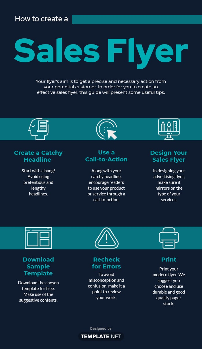 how to create a sales flyer
