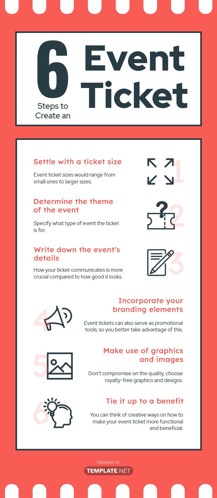 how to create an event ticket