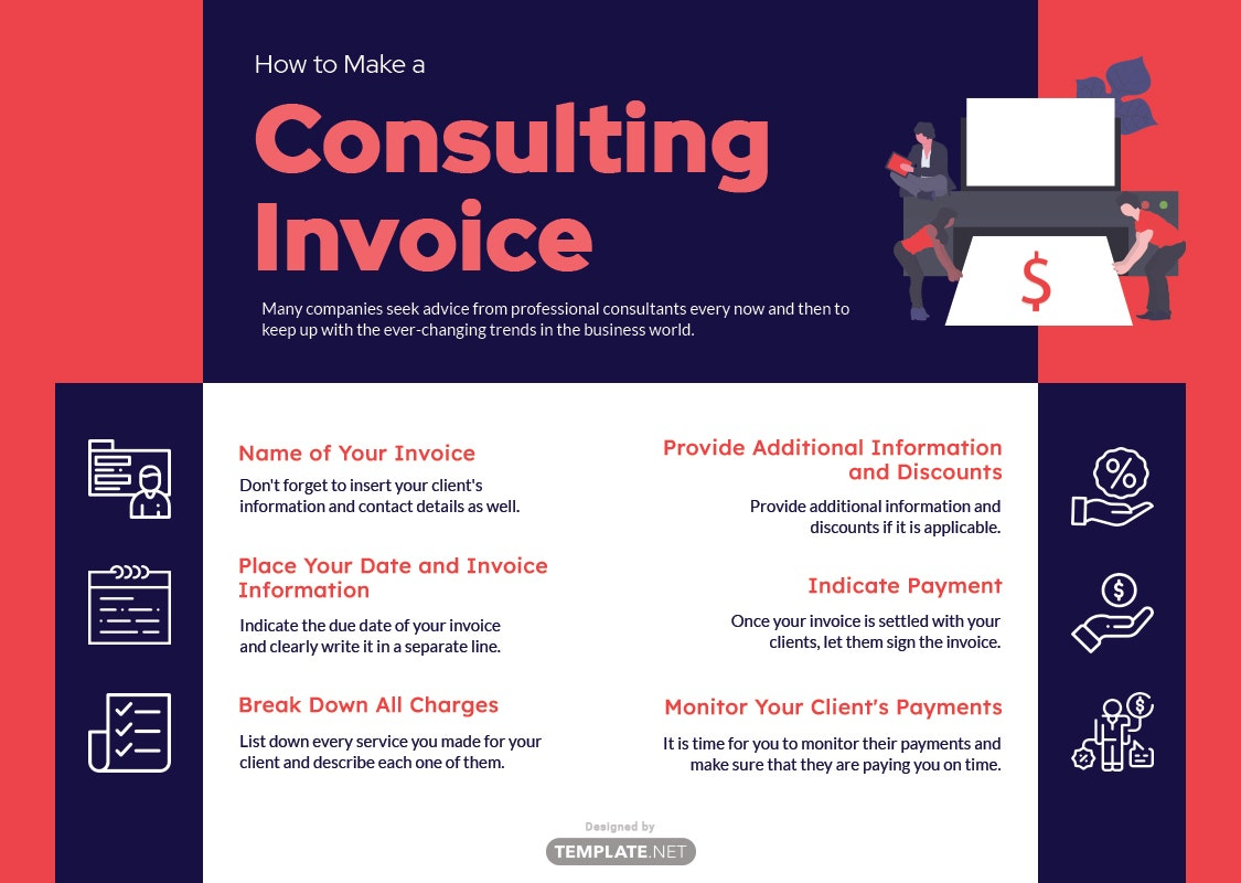how to make a consulting invoice