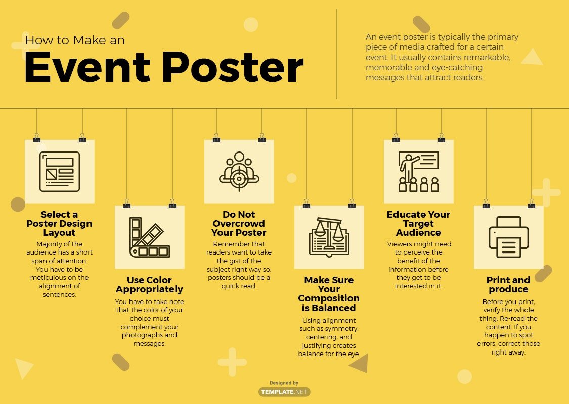 how to make an event poster