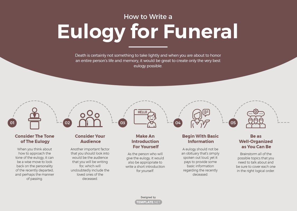 eulogy funeral template