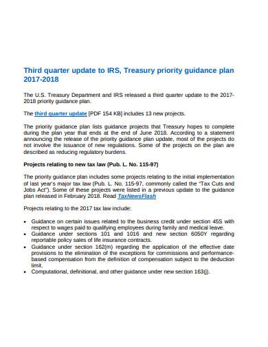 irs priority guidance plan