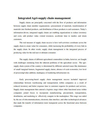 integrated supply chain management template