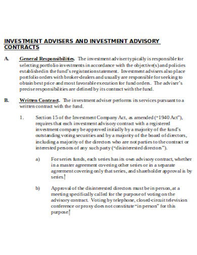 investment advisory contract in doc1