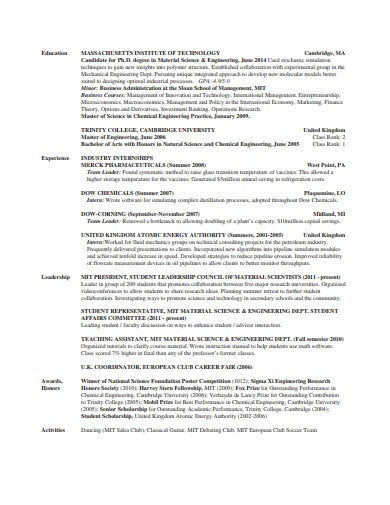 investment banking operating resume