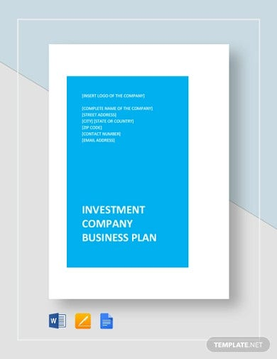investment company business plan