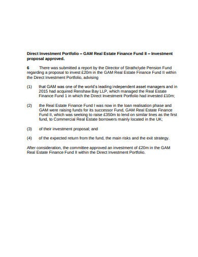investment portfolio real estate finance proposal template