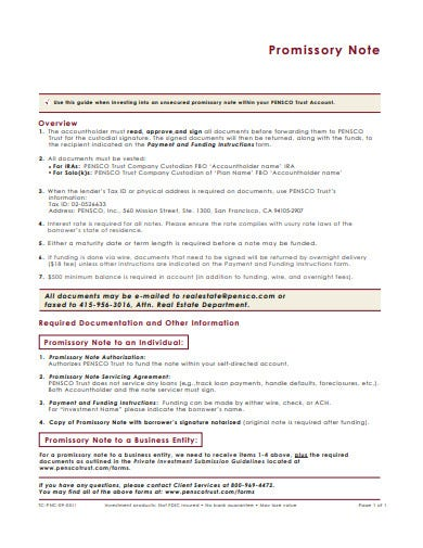 investment promissory note