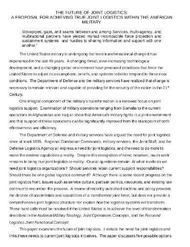 joint logistics business proposal template
