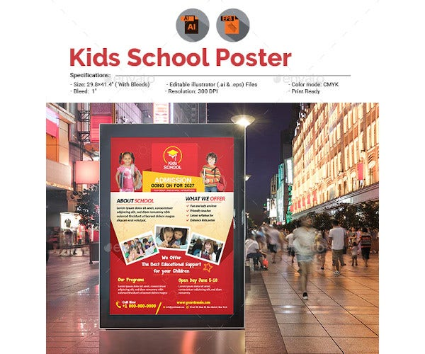 kids school promotion poster
