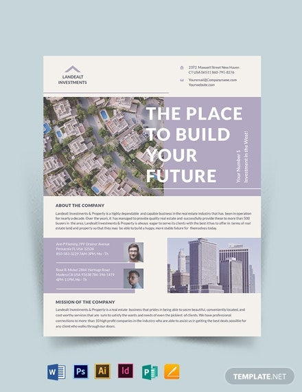 land realestate investor flyer template