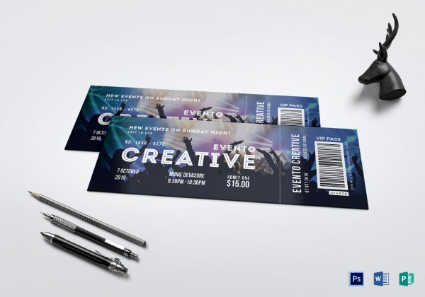 live event ticket template 1