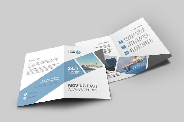 logistic bi fold brochure