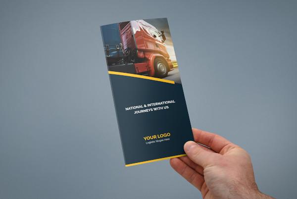 logistic brochure indesign