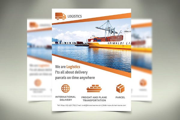 logistic flyer in vector eps