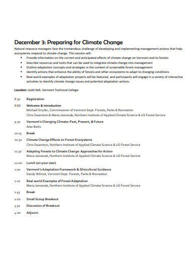 logistics agenda climate change template