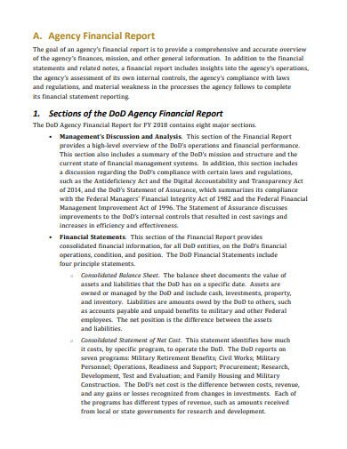 logistics audit financial report template