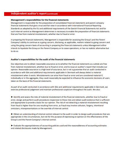 logistics audit report template
