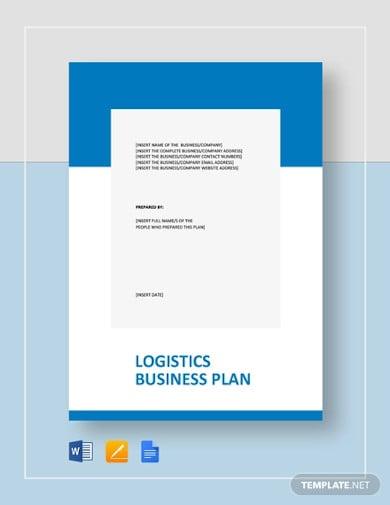 logistics business plan template1