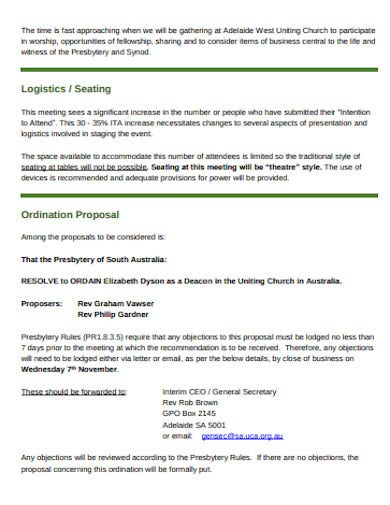 logistics business proposal format