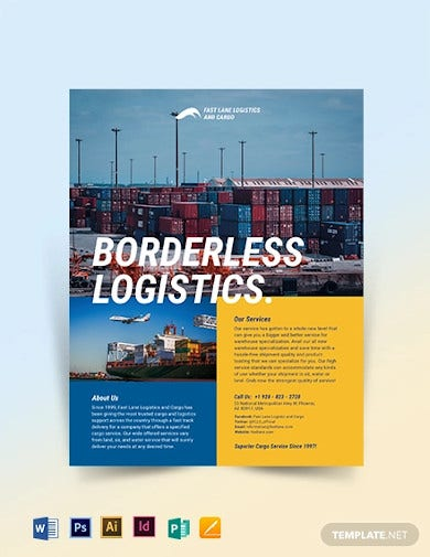 logistics company flyer template