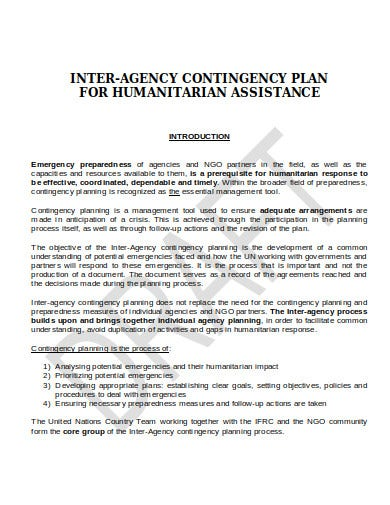 logistics contingency plan in doc