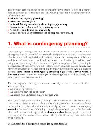 logistics contingency service planning