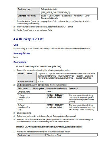 logistics delivery note in doc