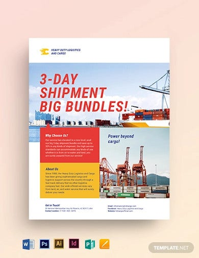 logistics flyer template