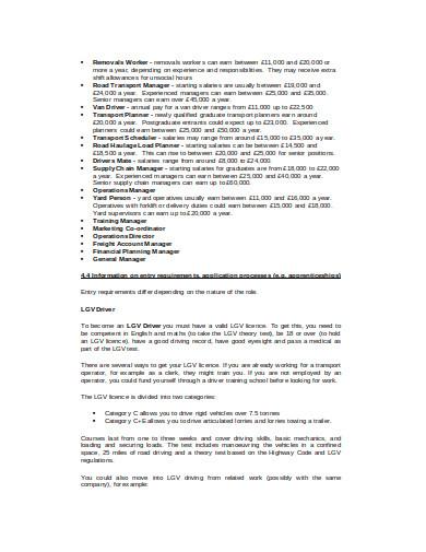 logistics planner skills in doc