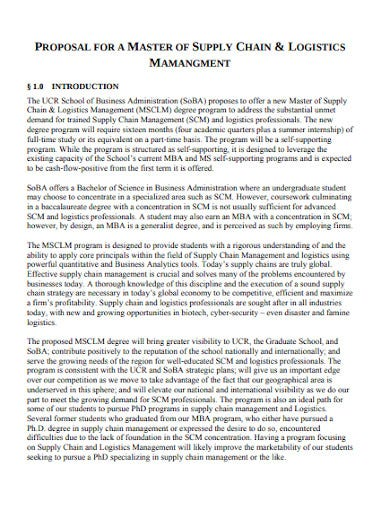 logistics proposal in pdf