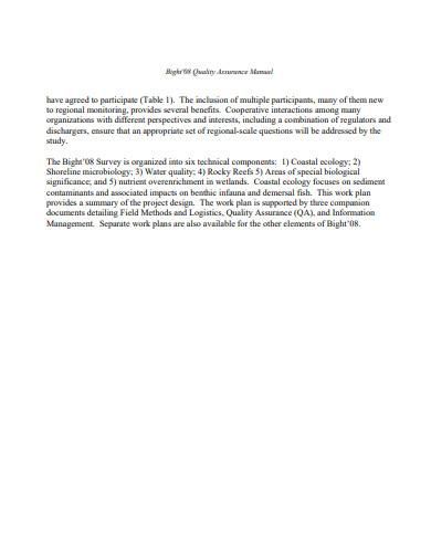 logistics quality control plan template in pdf
