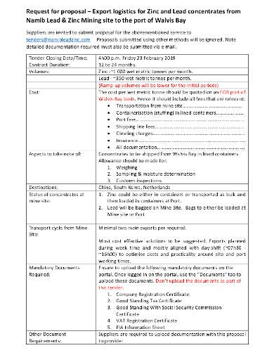 logistics request for proposal template1
