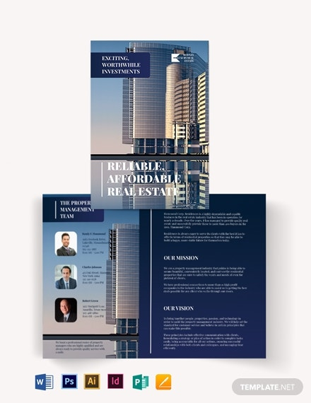 luxury realestate agentagency bi fold brochure