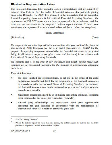 management representation letter template in pdf
