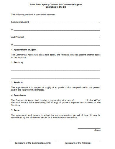 marketing agency contract form