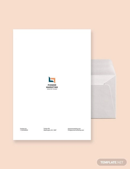 marketing agency envelope template