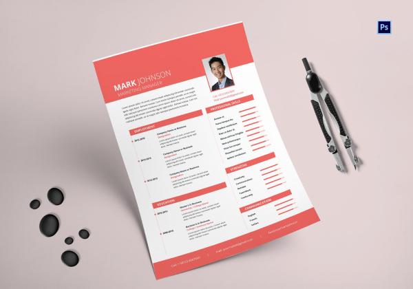 marketing executive manager resume 1