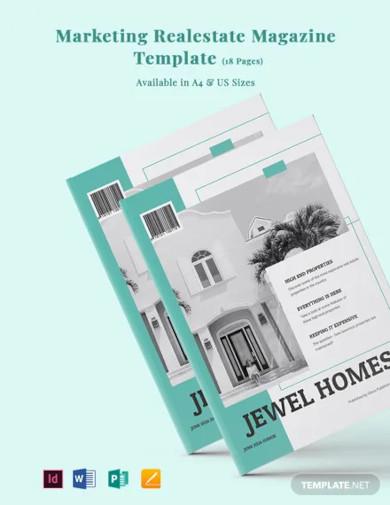 marketing real estate magazine template