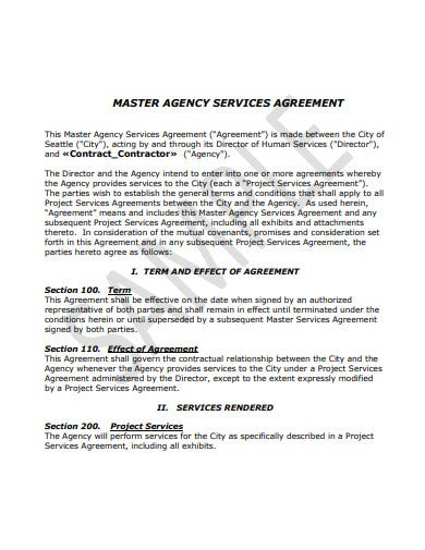 master recruitment agency service level agreement