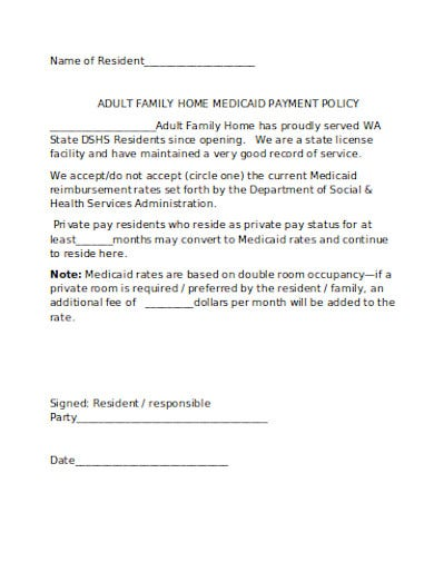 medicaid payment policy in doc