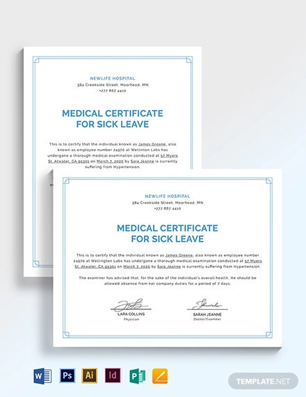 medical certificate template for sick leave1