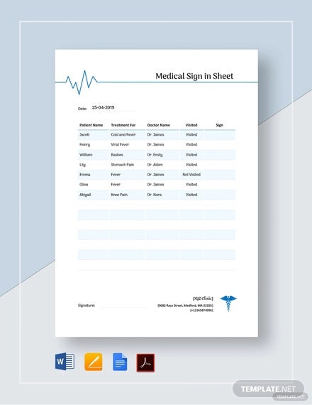 medical sign in sheet template1