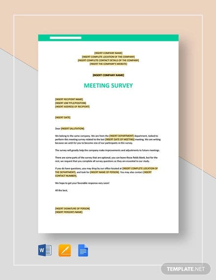 meeting survey template