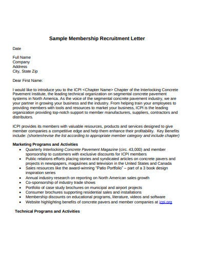 membership recruitment letter1