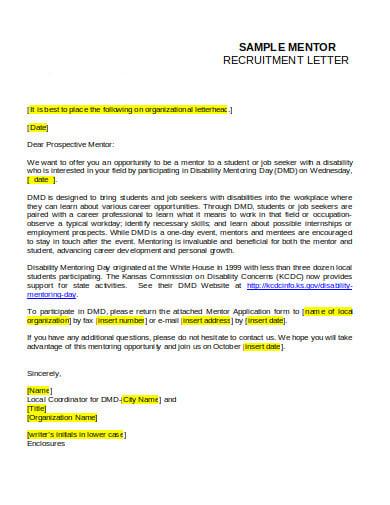 mentor recruitment letter